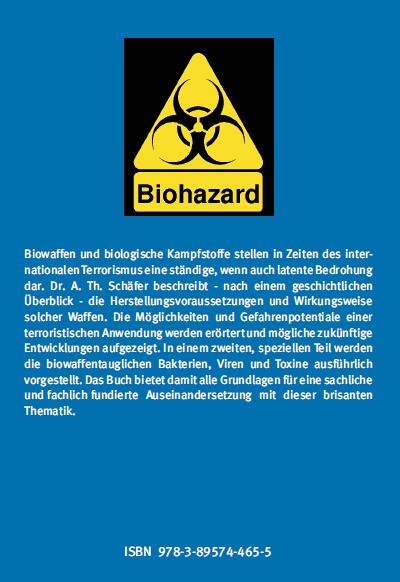 Coverrückseite - Schäfer - Bioterrorismus und Biologische Waffen - ISBN 978-3-89574-465-5 - Verlag Dr. Köster