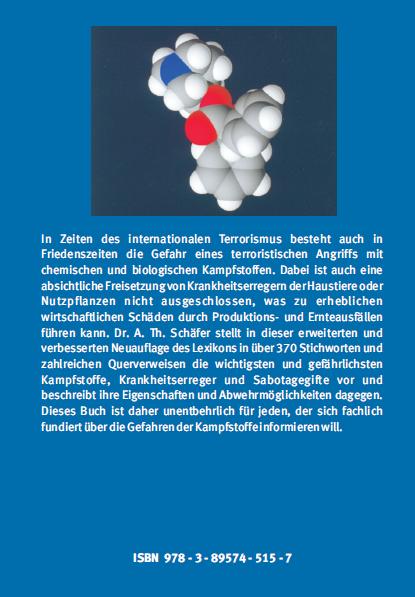 Coverrückseite - Schäfer - Lexikon biologischer und chemischer Kampfstoffe - Verlag Dr. Köster - ISBN 978-3-89574-515-7