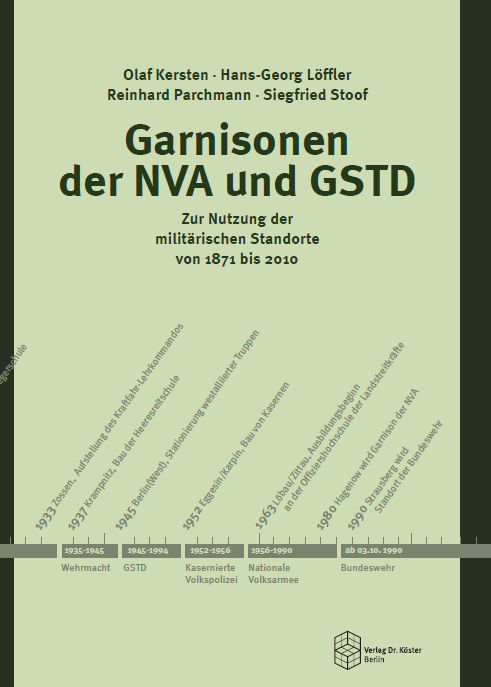 Coverbild - Garnisonen der NVA und GSTD - Verlag Dr. Köster - ISBN 978-3-89574-750-2