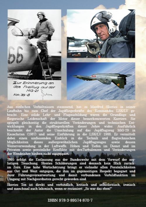 Coverrückseite - Skeries - MiG-29-Pilot in NVA und Bundeswehr - ISBN 978-3-89574-870-7 - Verlag Dr. Köster