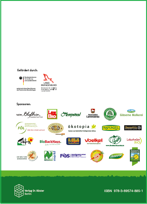 Coverrückseite - Beiträge zur 13. Wissenschaftstagung Ökologischer Landbau - Verlag Dr. Köster - ISBN 978-3-89574-885-1