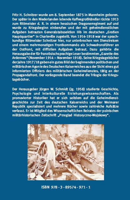 Backcover - Dr. Jürgen W. Schmidt, Bernd Schnitzer (Hrsg.) - Der Untergang des Kaiserreichs - Verlag Dr. Köster - ISBN 978-3-89574-971-1