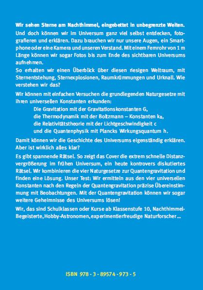 Backcover - Carmesin - Wir entdecken die Geschichte des Universums - Verlag Dr. Köster - ISBN 978-3-89574-973-5